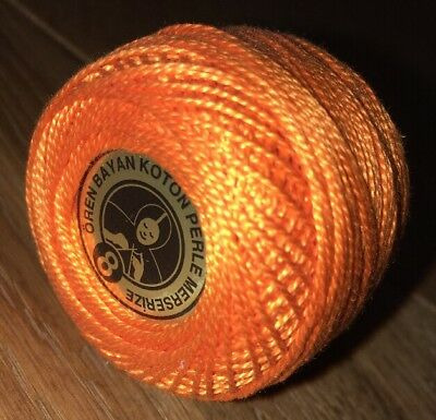 Oren Bryan Cotton Perle 8 #143 Orange Crochet Cotton