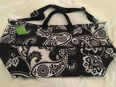 Vera Bradley Lighten Up Expandable Travel Bag Midnight Paisley New with Tags $98