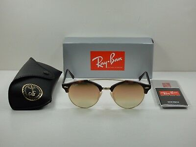 83c69050e3 Ray-Ban Clubround Double Bridge Sunglasses Rb4346 990 7O Tortoise copper  51Mm
