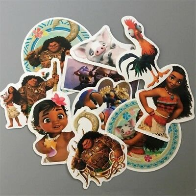 Lot of 10 Girls Moana Stickers Decals - loot bag diary school party
