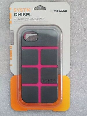 Incase SYSTM Chisel Gray/ Pink Hard Shell Protection Case for iPhone 5/ 5s/ SE