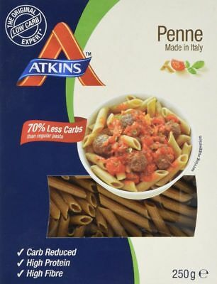 Atkins Low Carb High Protein Penne Pasta 250G 5 Servings High In Fibre 6.5G Per