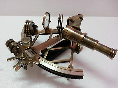 "Antique Style 9"" Nautical Solid Brass Sextant Marine Working Collectible Item."