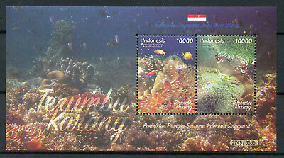 Indonesia 2017 MNH Corals JIS Singapore 2v M/S Fish Fishes Marine Stamps