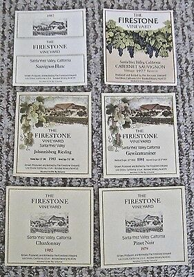 Vintage Lot 6 Wine Label Firestone Vineyard Santa Ynez Valley California Multi