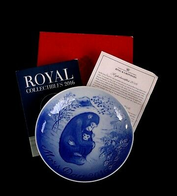 Bing & Grondahl B&g Royal Copenhagen Piatto Mamma Mother's Day 2016 Nuovo+Box