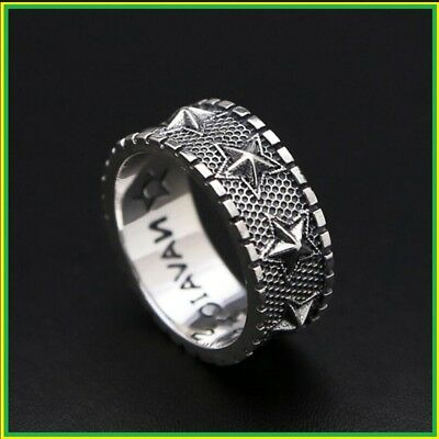 Ring100% Real 925 sterling silver Five Point Star men or women Gift