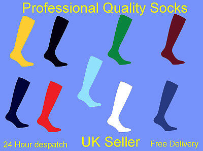 Prostyle Football Plain Socks Rugby Hockey Soccer Free Delivery Uk