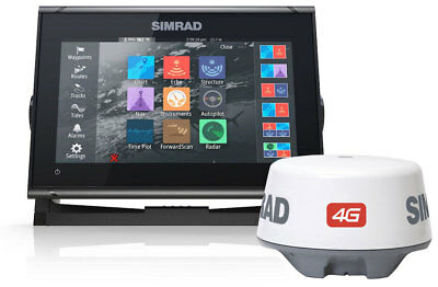 Simrad GO9 XSE Chartplotter with 4G Radar and TotalScan 000-14453-001 #62600059