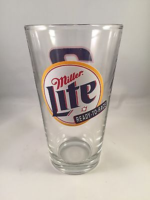 NASCAR Miller Lite Ready To Race Rusty Wallace #2 Beer Pint Glass 16oz