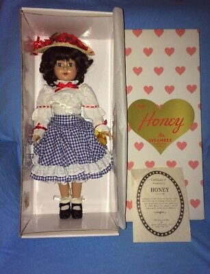 Effanbee Doll---Honey 1949 Repro in 1997---Blue Red Checkered Plaid Dress---*NEW