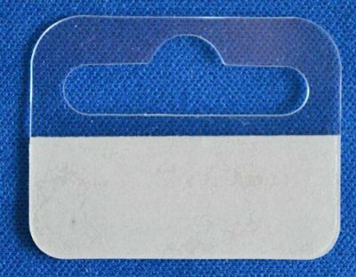 100 Sticky Euro Hook Slot Hang Hanging Tabs 41mm x 32mm with Strong Adhesive
