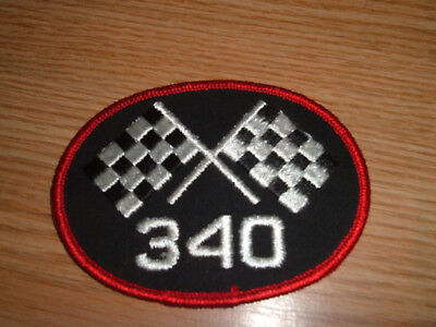 340 Mopar Patch  Plymouth Dodge Embroidered Racing Flag  Hemi
