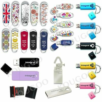 Integral 4GB 8GB 16GB 32GB 64GB USB Memory Stick Thumb Pen Flash Drive