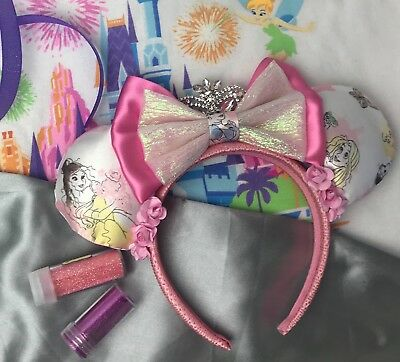 DISNEY Princess Minnie Mickey Mouse Ears with gorgeous Crown
