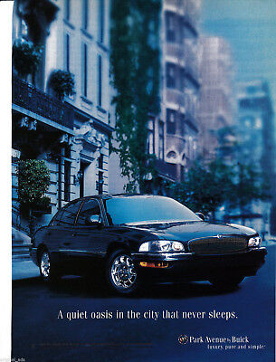 2000 Buick Park Avenue -Original Magazine Ad-Quiet Oasis City That Never Sleeps