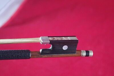 VTG Antique Josef Richter Violin Bow Mother of Pearl/Sterling Made In Germany
