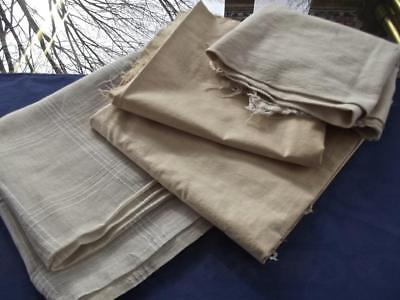 Lot of Salvaged Antique Cotton 3 Yards Fabrics & 14x28 Feed Sack Bag Laundered