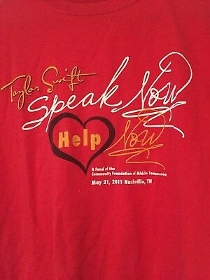 Taylor Swift Shirt Speak Now Help Now Rare Charity 2011 Size L