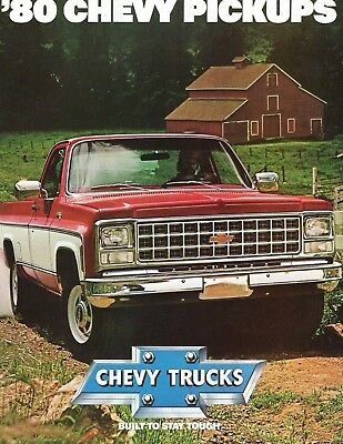 1980 CHEVY PICKUPS- Original Sales Brochure Catalog - Vintage Chevrolets '80s