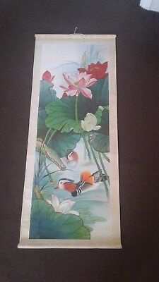 vintage Chinese scroll wall hanging paper print