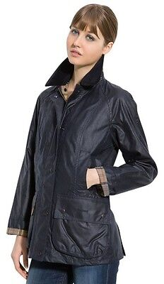 $379 Madewell Barbour Classic Bedale Waxed Jacket Navy Size 30 Small Medium