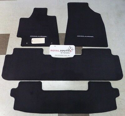 Toyota Highlander 2011-2013 Carpet Floor Mats Set Genuine OEM OE