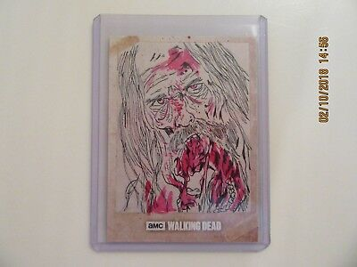 2017 Topps - The Walking Dead Evolution - 1/1 HAND DRAWN ART CARD -