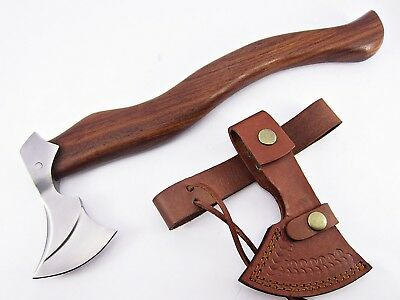 VINTAGE HATCHET VIKING Style Axe Tool Engraved Buck Carved