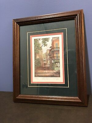 """ART BY JAMES MCCAFFERY SIGNED LIMITED PRINT """"ALLEY SHADOWS."""" 1218/2000 New Orle"""