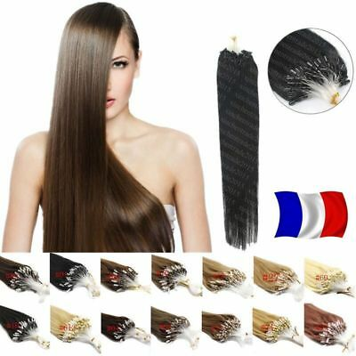 50 100  200 Extensions Cheveux Pose A Froid Naturels Remy 53/60Cm 0,5G/1G 3A+