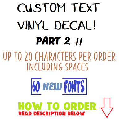 CUSTOM Vinyl word letter Decal Personalized Name Sticker Window Wall Text & YETI