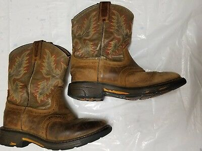 ARIAT Rambler Leather little boys cowboy distressed brown Boots Size 13 EUC!