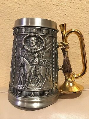 Vtg Civil War Commemorative Tankard Franklin Mint Pewter Stein #CivilWar #Stein