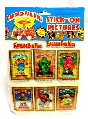 TOPPS Vintage 1985 Garbage Pail Kids GPK 6 Stick-On Pictures Stickers Sealed
