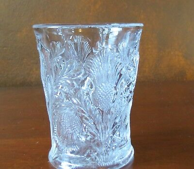 """Mosser U.S.A. Inverted Thistle Clear 4"""" Flat Tumbler(s)"""
