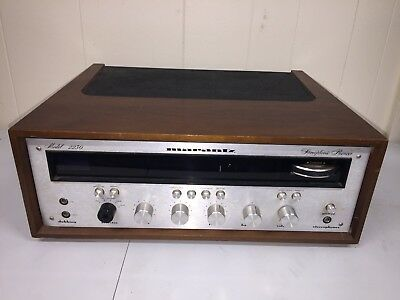 Marantz 2230 Stereophonic AM FM Stereo Receiver w Woodgrain in Wood Case Cabinet