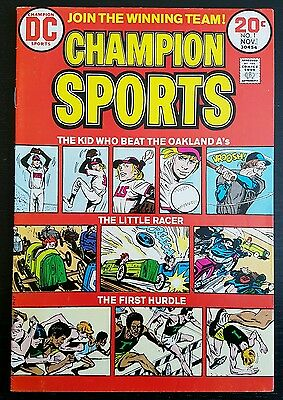 Champion Sports #1 (1973 D.c.) * The Kid Who Beat The Oakland A's* Vf