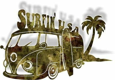 DXF CNC dxf for Plasma VW Surfin usa Man Cave Home Wall Art Ocean Beach