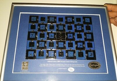 Sydney 2000 Olympic Games Pictograms Puzzle Framed Pin Set - No: 2304 / 5000