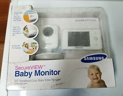 """Samsung 3.5"""" in Secure VIEW Video Baby Monitor Night Vision SEW-3035W NIB hot"""