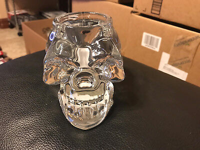 Skull Votive Candle Holder NEW Heavy Clear Glass same day fast FREE shipping