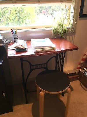 Singer Sewing Table Desk Iron And Wood