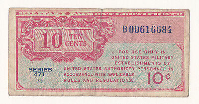 Military Payment Certificate Series 471 10 Cents Replacement Note.