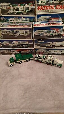 Hess Truck Lot Of 11 Toy Trucks - 1991-2001 + Bp Bonus Truck - Vintage