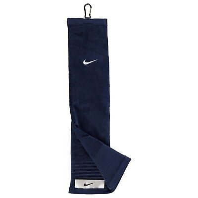 Nike Tri Fold Face Club Golf Towel Navy/white