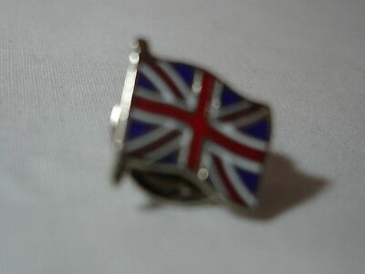 Great Britain British Flag Tie Tack Lapel Pin, England, on staff
