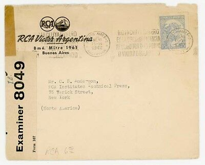 1942 Argentina to USA with Scarce Trinidad Label