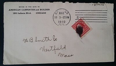 VERY RARE 1910 United States Cover with Schermack Private Vending Coil stamp