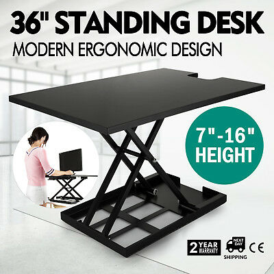 """36"""" X-Elite Table Lift Sit/Stand Standing Desk Tabletop Fully Assembled 55 LBS"""